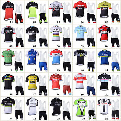2017 Style Bicycle Team Sport Cycling Clothing Short Sleeve Jersey&Bib Pant Sets