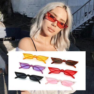 Vintage Cat Eye Sunglasses Women Luxury Brand Designer Sun Glasses Retro Thin