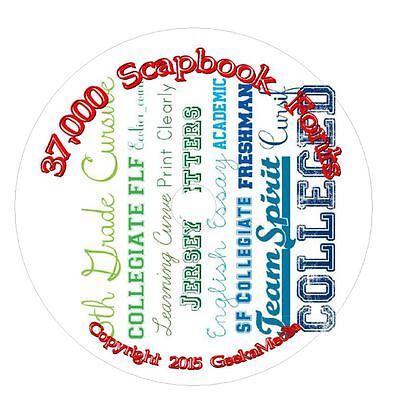 40,000 True Type Fonts CD DVD Scrapbook Crafts Card Keepsakes Invitation Flyers