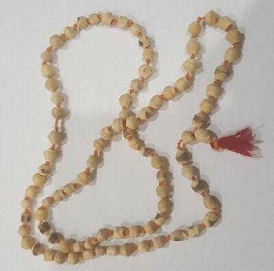 Tulsi Knotted Beads Japa Mala Necklace - Prayer Yoga Meditation