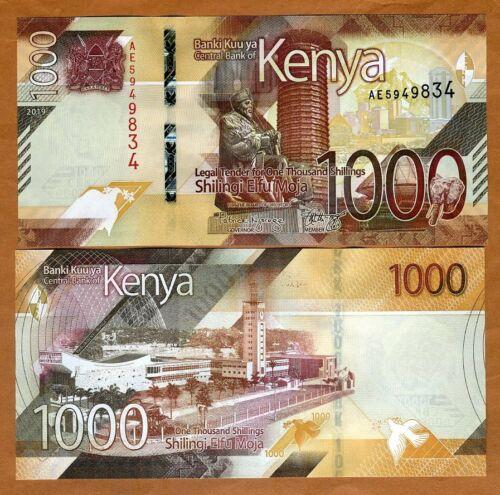 Kenya, 1000 shillings, 2019, P-New, UNC > New Design, Highest Denom