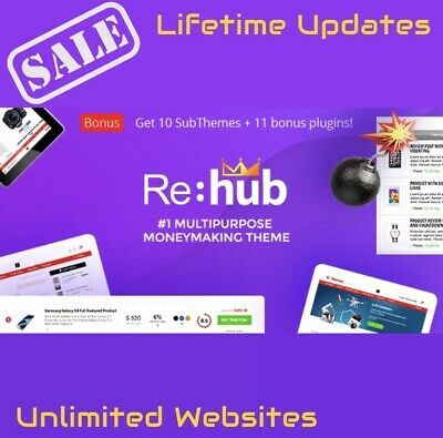 Rehub - Affiliate Marketing Price Comparison Multi-vendor Wordpress Theme 2020