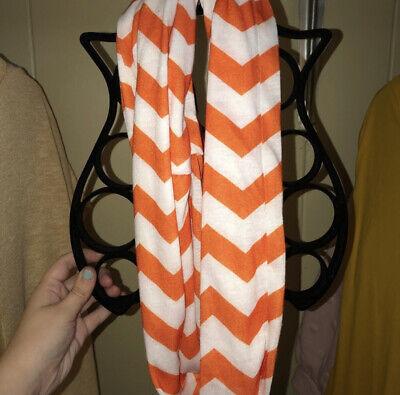 White & Orange Infinity Scarf