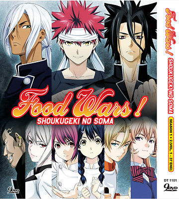 Dvd Anime Food Wars  Shokugeki No Soma Season 1 2 Vol 1 37 End Free Ship