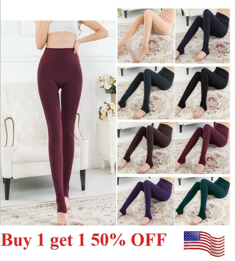 US Women Thermal  Stretch Fleece Lined Thick  Winter Warm Pants tight leggings Clothing, Shoes & Accessories