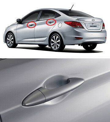 OEM Outside Door Catch Handle RHM Silver 8p For 11-14 Hyundai Accent, Solaris