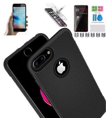 Hülle Soft Case Silikon griffig schwarz matt iPhone 6 6S 7 8 X XS Bumper Cover ()