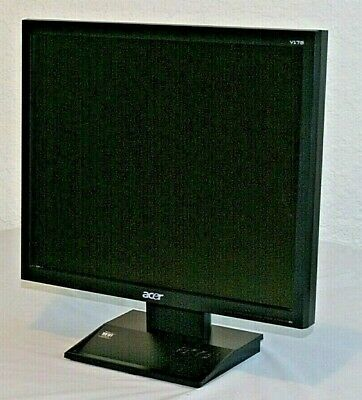 Acer V173 LCD Monitor Tested & Warranty