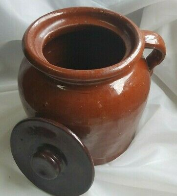 Good Price Three Crocks All Have Lids Ceramic Handmade Hand Glazed Clay Glazed Pottery Home Decoration and Collectible Displayable
