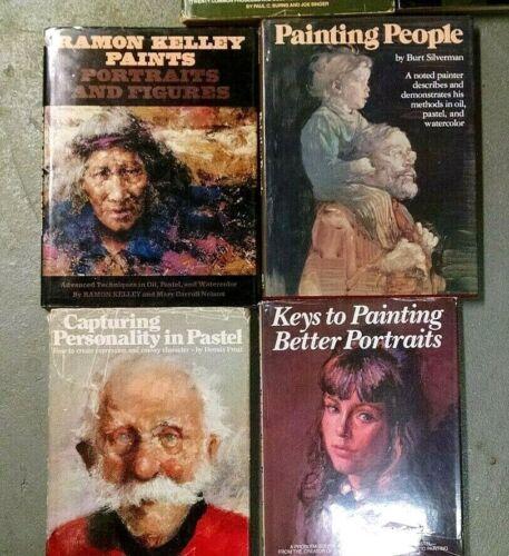 4 CLASSIC OIL & PASTEL PORTRAIT PAINTING INSTRUCTION BOOKS