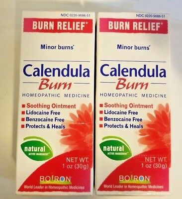 (LOT OF 2 X BOIRON CALENDULA BURN RELIEF HOMEOPATHIC MEDICINE NATURAL 1oz)
