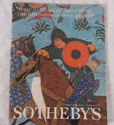SOTHEBYS CATALOGUE 5THREE ILLUSTRATED LEAVES SHAHNAMA OF SHAH TAHMASI APR00