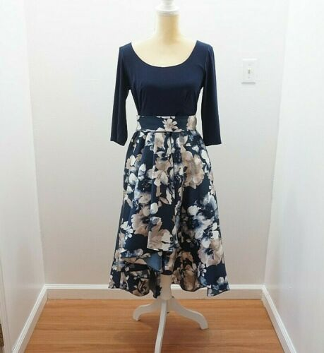 R & M Richards Formal Floral Dress Size 10 Petite