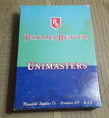 Vintage Advertising Paper - Vintage PANAMA-BEAVER Unimasters Advertising Paper Stationary Box EMPTY