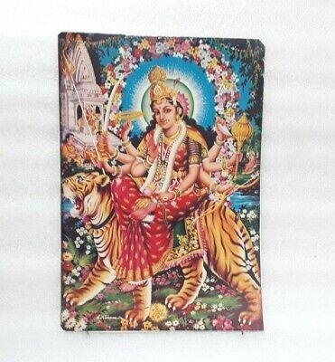 Vintage Hindu Goddess Maa Durga On Tiger Print Poster Wall Picture MP9