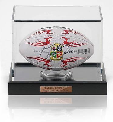Martin Johnson Hand Signed Mini British Lions Rugby Ball Photo Proof AFTAL COA
