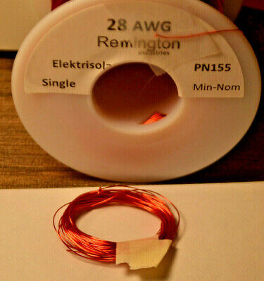 10ft Remington Industries 28SNSP 28 AWG Magnet Wire - Enameled Copper Wire