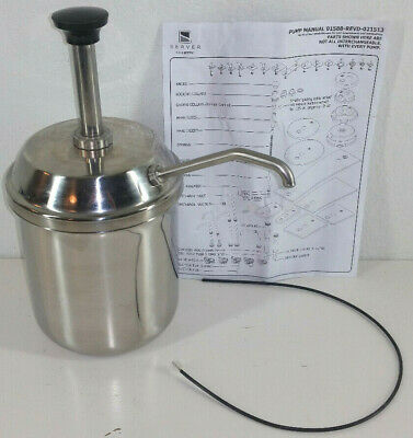Server Syrup Condiment Dispenser Stainless Steel Pump 82000 Sp Jar 94009 Ss 304