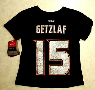 RYAN GETZLAF Kids Jersey T Shirt Size Large 7 Anaheim Ducks Reebok Face Off New - Face Off Kids T-shirt