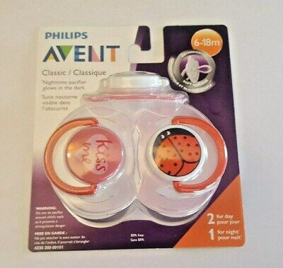 Philips Avent Classic Pacifier - 3 pack - Orthodontic Soft Silicone -  (6-18M)