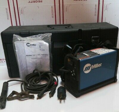 Miller Maxstar 150 S Stick Welder With Leads Case Adapter And Manual