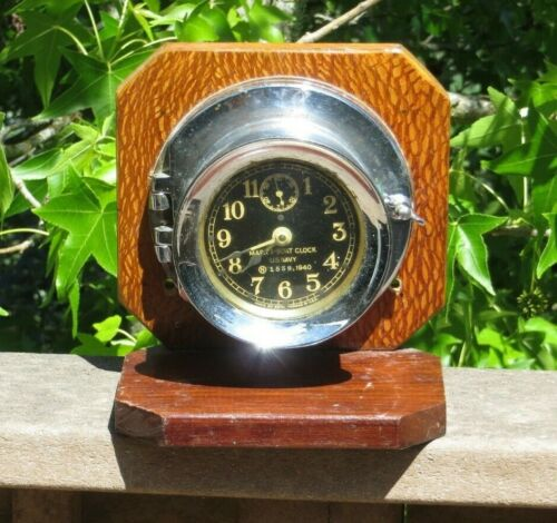 WW2 USN U.S. Navy Mark I - Boat SHIP NAUTICAL Clock Seth Thomas