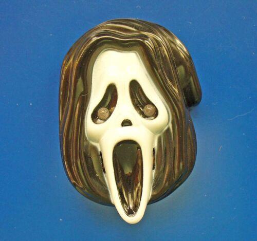 PIN Halloween Vintage LIGHT & SOUND Grim Reaper SCREAMER Battery Op Brooch RARE