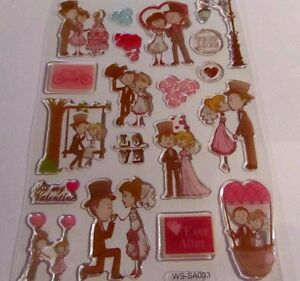 Wedding Stickers-Invitation&Anniversary card making/Valentines Day/Engaged/Han N