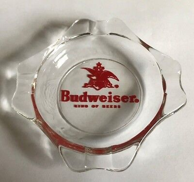 (VINTAGE) BUDWEISER BEER GLASS ADVERTISING ASHTRAY ANHEUSER BUSCH ST. LOUIS MO