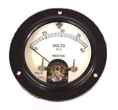 New Weston 1521 Voltage Gauge 20-40vdc 146417
