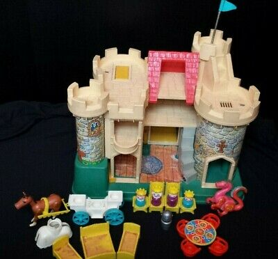 Vintage 1975 Fisher Price Little People Play Family Castle #993 w MANY ACCESSORI