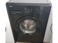 z629 black beko 7kg 1200spin washing machine cpomes with warranty can be delivered or collected