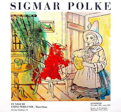 SIGMAR POLKE - Fundació Espai Poblenou - Ausstellung Barcelona 1993 - Farboffset