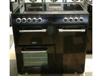 a204 black belling kensington 90cm ceramic hob electric range cooker comes with warranty
