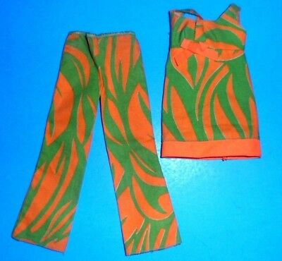 #3402 TWO-WAY TIGER BARBIE Fashions mod doll clothes 1970s VINTAGE Barbie 1971