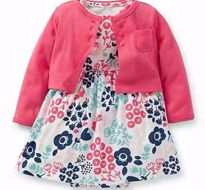 Baby Girls Carters Floral Bodysuit and Cardigan from 6 to 24 months