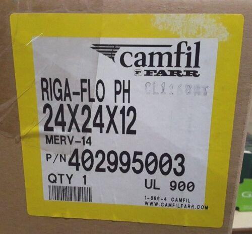CAMFIL RIGA-FLO PH AIR FILTER MERV-14 24x24x12 HI FLOW 2000CFM 402995-003 NIB