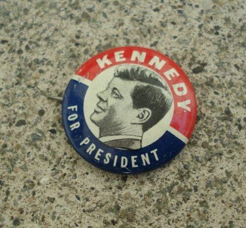 "Vintage Original JFK JOHN F Kennedy For President Button Pin 1"" Diameter"