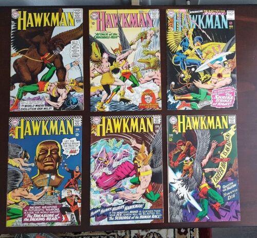 Hawkman 6-22 Lot of 6 Average FN 6.0