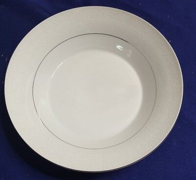- Vintage BRENTWOOD Fine China WHITE LACE 9.5