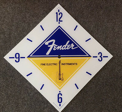 """*NEW* 15"""" DIAMOND FENDER GUITAR GLASS replacement clock FACE FOR PAM MAN CAVE"""