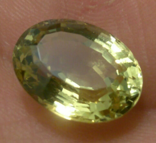 Incredible large 8.65 carat natural chrysoberyl 13.8x10.7x7.2