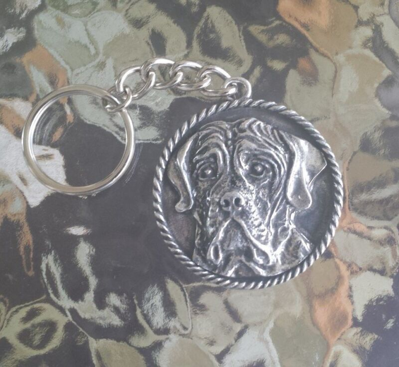 HOUSE PET DOG ANIMAL 1 PUREBRED MASTIFF PEWTER KEY CHAINS ALL NEW.