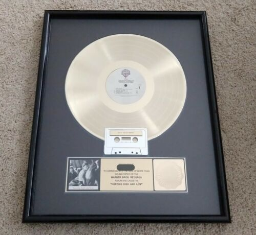 """A-HA """"Hunting High and Low"""" 1985 RIAA Gold Record"""