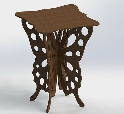 Vectors Dxf Files Butterfly Table For Cnc Router And Laser Aspire Artcam Vcarve