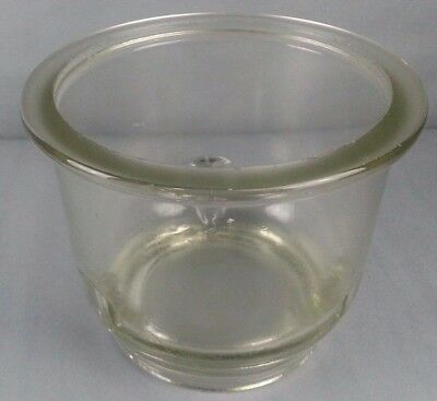 Rare Large Vintage Corning Pyrex Scientific Glass Desiccator Replacement Base