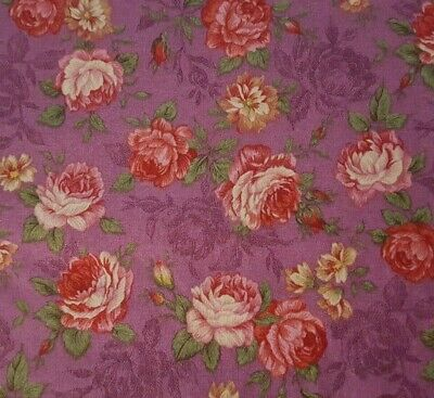 Used, Floral BTY Quilt Shop / VIP Cranston Flowers on Purple for sale  Shipping to Canada