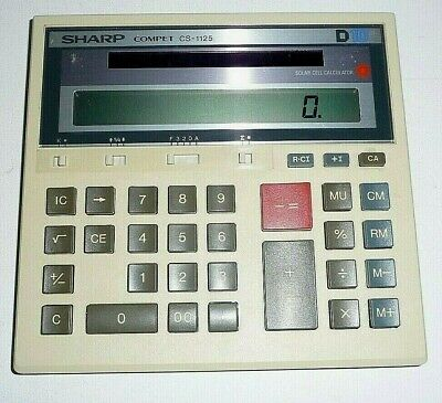 Calculator Sharp Compet CS-1125 Solar Cell Science Tested Works Great Pre-Owned