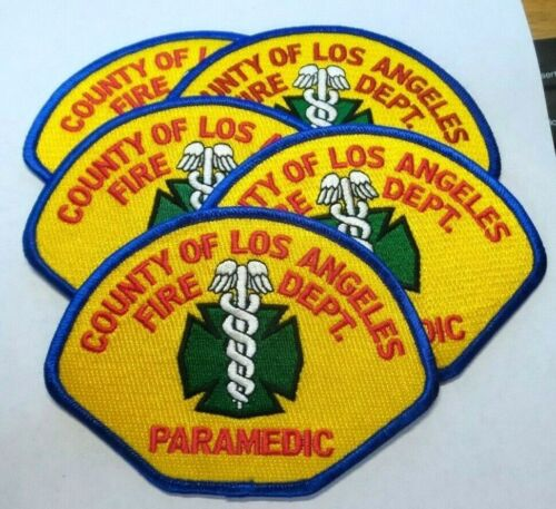 (5) LOS ANGLES COUNTY CALIFORNIA FIRE DEPT PARAMEDIC Patches Patch