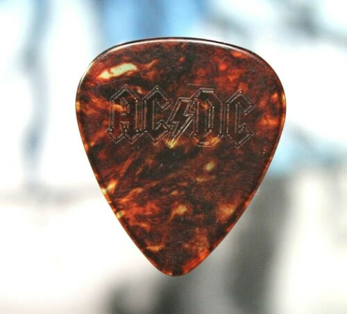 AC/DC // Angus Young 1995 Ballbreaker Tour Guitar Pick / MISPRINT Missing Gold